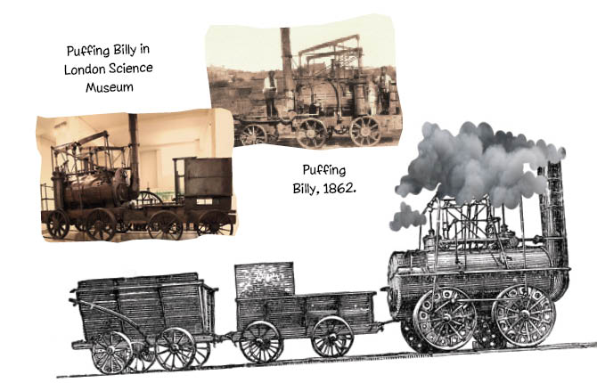 Puffing Billy (1862) in the London Science Museum.