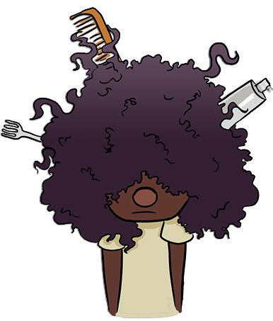 An image of the proverb a bad hair day.