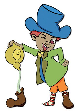An image of the proverb as mad as a hatter.