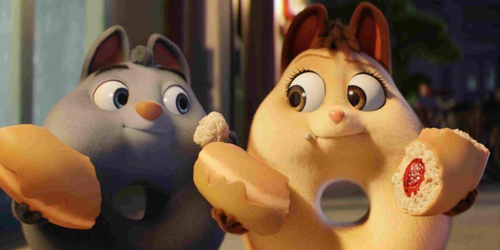Extinct the movie - Flummels sharing a donut