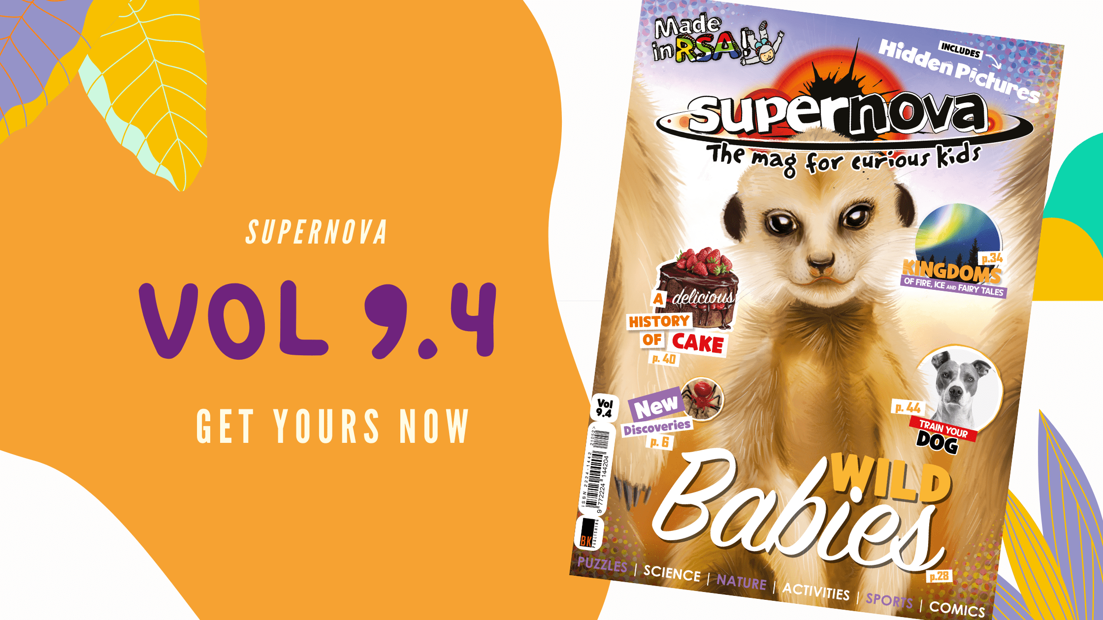 Colourful blog banner with cover of Supernova Vol 9.4 stating that it is out now!