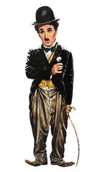 An illustration of Charlie Chaplin.