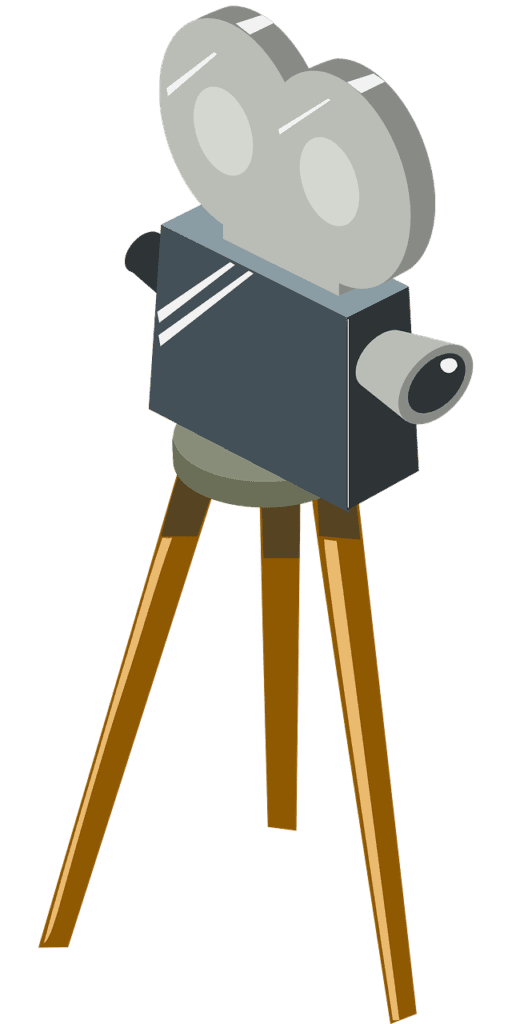 An illustration of a movie projector.