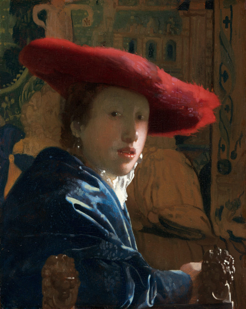 Vermeer the girl with a red hat
