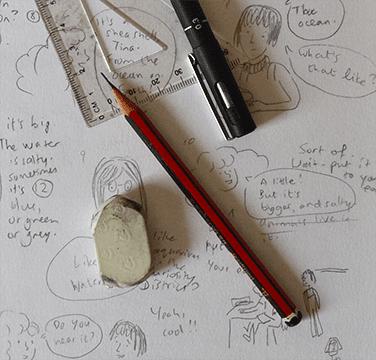 Pencilling a comic