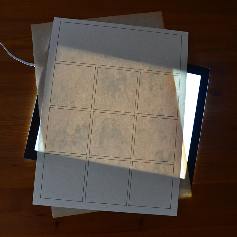 Demonstration of the use of a lightbox