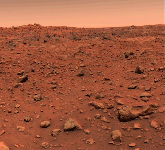 Viking 1 colour photograph of Mars