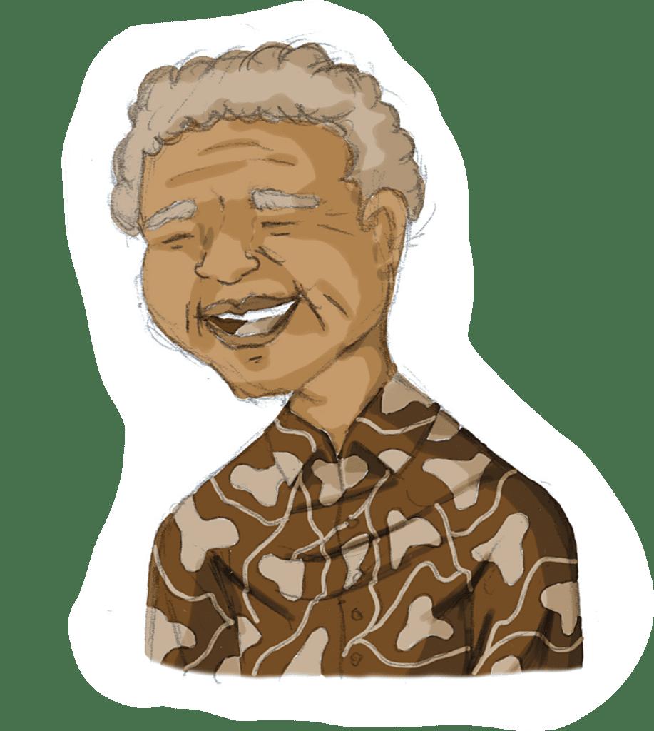 Drawing of Nelson Rolihlahla Mandela