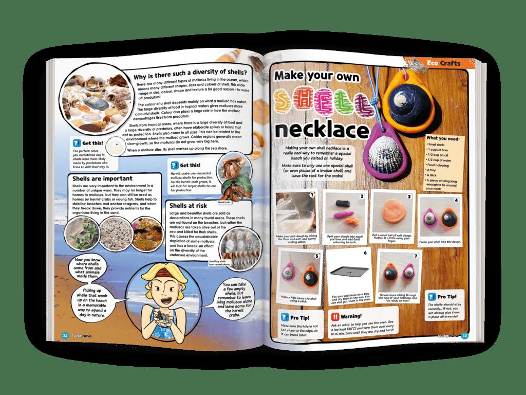 Mockup of EcoCraft section of Supernova Magazine Vol 9.6